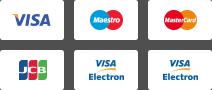 Visa | Maestro | MasterCard | JCB | Visa Electron