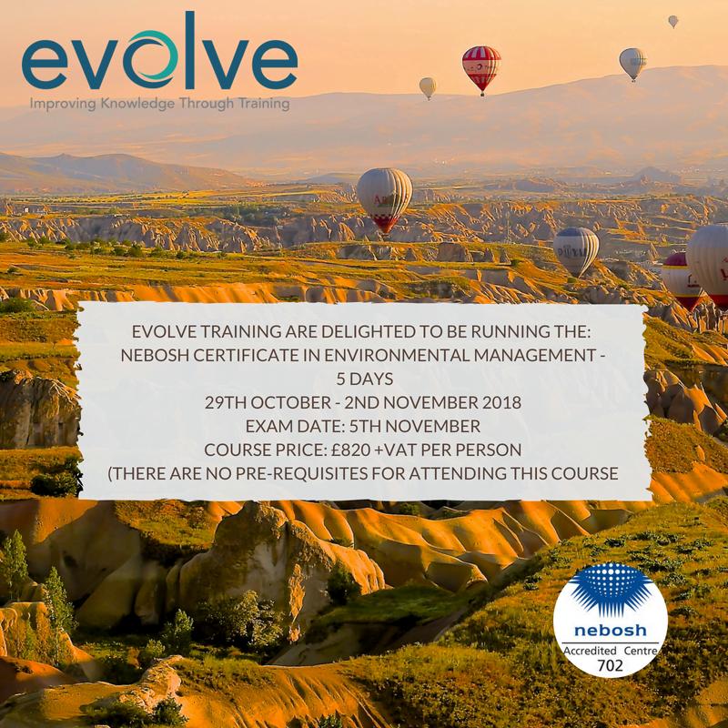 Evolve Training Nebosh Certificate In Environmental Management
